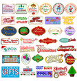 set christmas and new year labels badges vector image