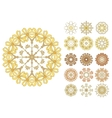 Set of abstract flower circles vector image
