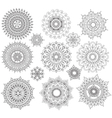 set round ornament patterns vector image vector image