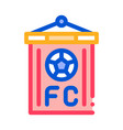 soccer command flag icon outline vector image