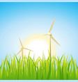 spring and summer windmills vector image