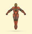 superhero robot action cartoon superhero vector image vector image