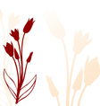 tulip back silhouette vector image vector image