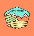 vintage adventurer line art logo emblem template vector image vector image