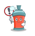 with sign aerosol spray can character cartoon vector image