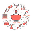 woman accessories concept with perfume vessel icon vector image vector image