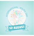 12 august international youth day vector image