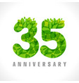 35 leaves transparent vector image vector image