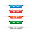 70 percent off paper tag labels vector image vector image