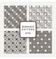 A set of four seamless patterns Squares vector image