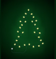 abstract christmas tree made from lighting vector image vector image