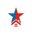 America USA logo Star House icon vector image vector image