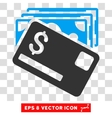 Banknotes and Card Icon vector image