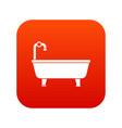 bathtub icon digital red vector image vector image