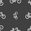 bike icon sign Seamless pattern on a gray vector image vector image