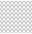 black wavy line and heart seamless pattern vector image