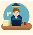 Boring office work cartoon vector image vector image
