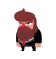 brutal business with a beard in a strict suit vector image vector image