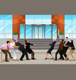 business people in a tug of war vector image vector image