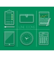 Business work elements vector image vector image