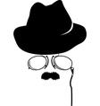 cartoon detective retro accessories vector image vector image