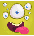 cartoon happy funny alien character vector image vector image