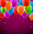 Celebrate colorful background with balloons vector image vector image