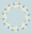 chamomile and forget-me-not flowers pattern on vector image vector image