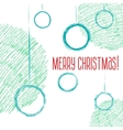 Christmas balls hand-drawn style sketch vector image