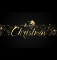 christmas postcard with calligraphy xmas objects vector image