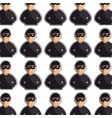 color silhouette with pattern of hacker half body vector image vector image