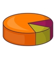 Colorful pie graphic chart icon cartoon style vector image vector image