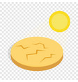 drought cracked desert landscape isometric icon vector image