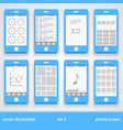 flat phone screen set 3 vector image vector image