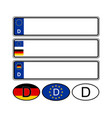 german specific vehicle registration plate on vector image
