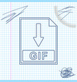 gif file document icon download gif button line vector image vector image