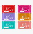 gift cards with boxes in a flat style set vector image
