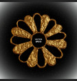 gold flower stylized golden vector image