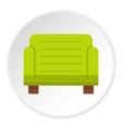 green armchair icon circle vector image vector image