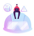 health safety environment concept male character vector image