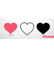 heart collection flat icon set love symbol vector image vector image