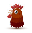 hen or chicken head icon isolated on white vector image