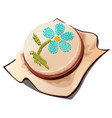 hoops for embroidery with the image of a flower vector image vector image