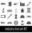industry icon set 2 gray icons on white vector image