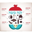 Infographics for Jewish New Year hebrew happy new vector image vector image
