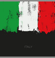 italy colorful brush flag vector image vector image