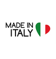 Made in Italy symbol with the heart vector image vector image