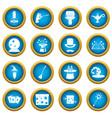 magic icons blue circle set vector image vector image