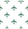 military aircraft with missiles pattern flat vector image vector image