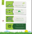 modern ecology labels vector image